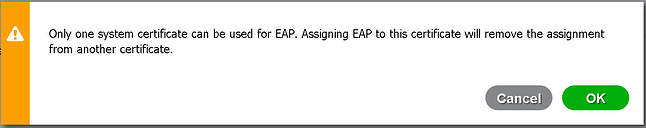 Cisco ISE - EAP Certificate Assignment