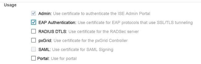 Cisco ISE - EAP Usage Authentication