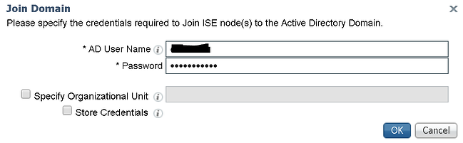 Cisco ISE - Join Domain