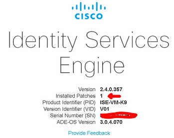 Cisco ISE Patch Complete