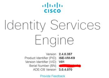 Cisco ISE Version 2.4.0.357