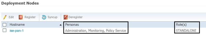 ISE deployment nodes