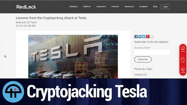 Tesla Cryptojacking