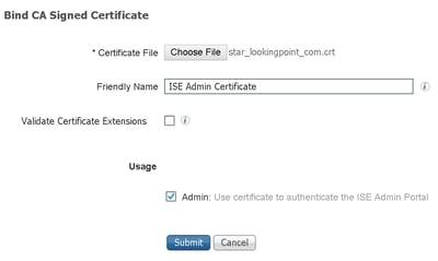 bind CA Signed Certificate