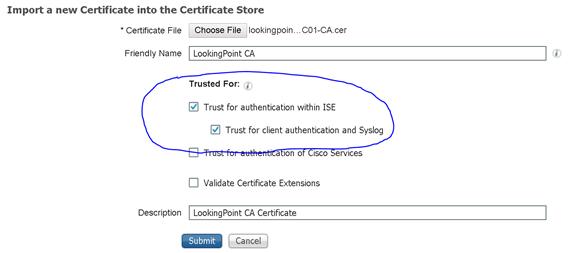 ISE new certificatie