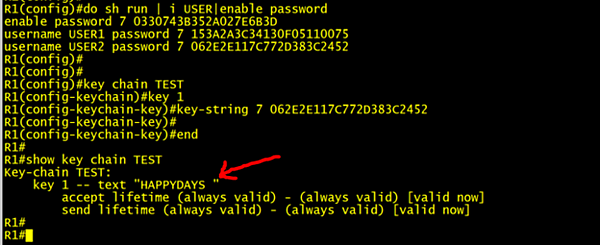Service Password Encryption
