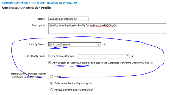 Certifiicate Authentication Profiles