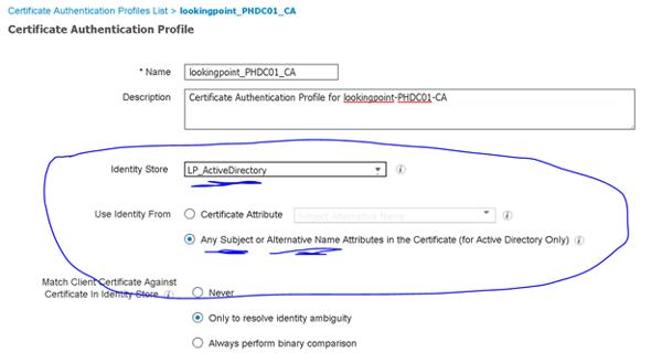 Certifiicate Authentication Profiles