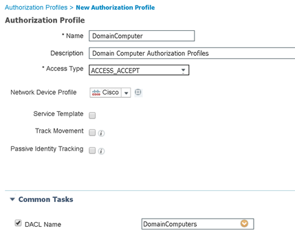 Domain Computer AuthZ Profile