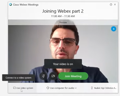 how to use cisco webex