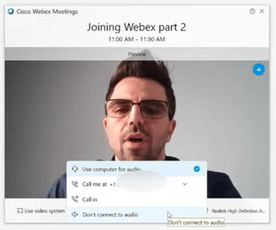 how to use cisco webex
