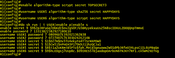 type 8 and type 9 password protection