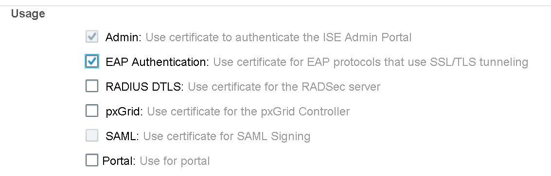 Cisco ISE – Active Directory and EAP Certificate