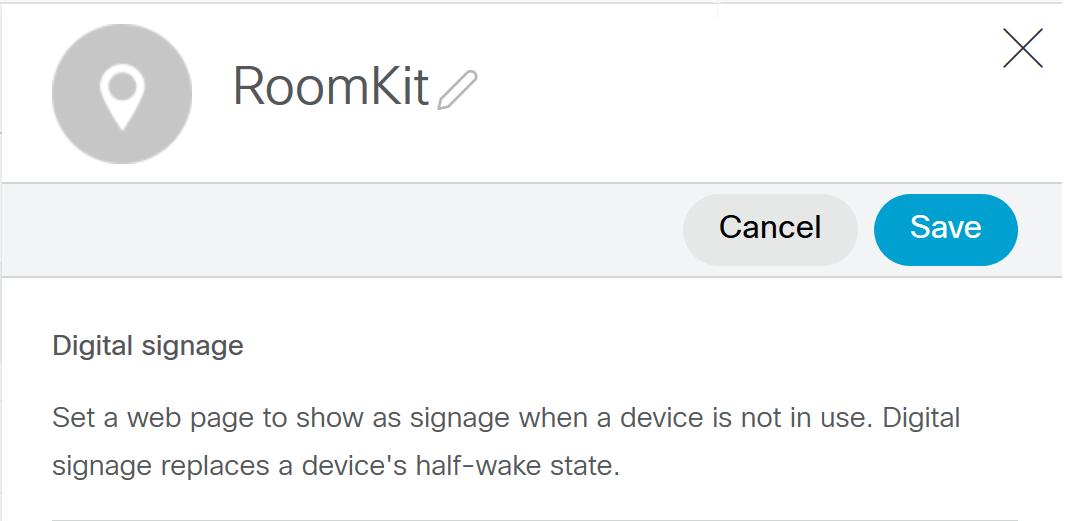 Enabling Digital Signage mode on Cisco Webex Room Kit and Cisco Webex Board