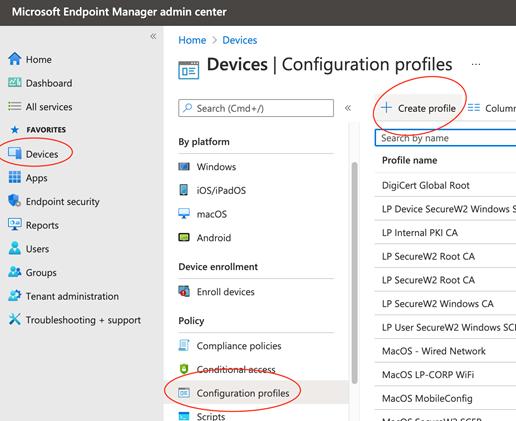 Cisco ISE Microsoft Intune – 802.1x Supplicant Provisioning - Windows 10 Wireless Supplicant Provisioning